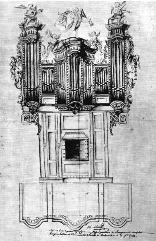 Dessin du buffet du Grand-Orgue de Riquewihr